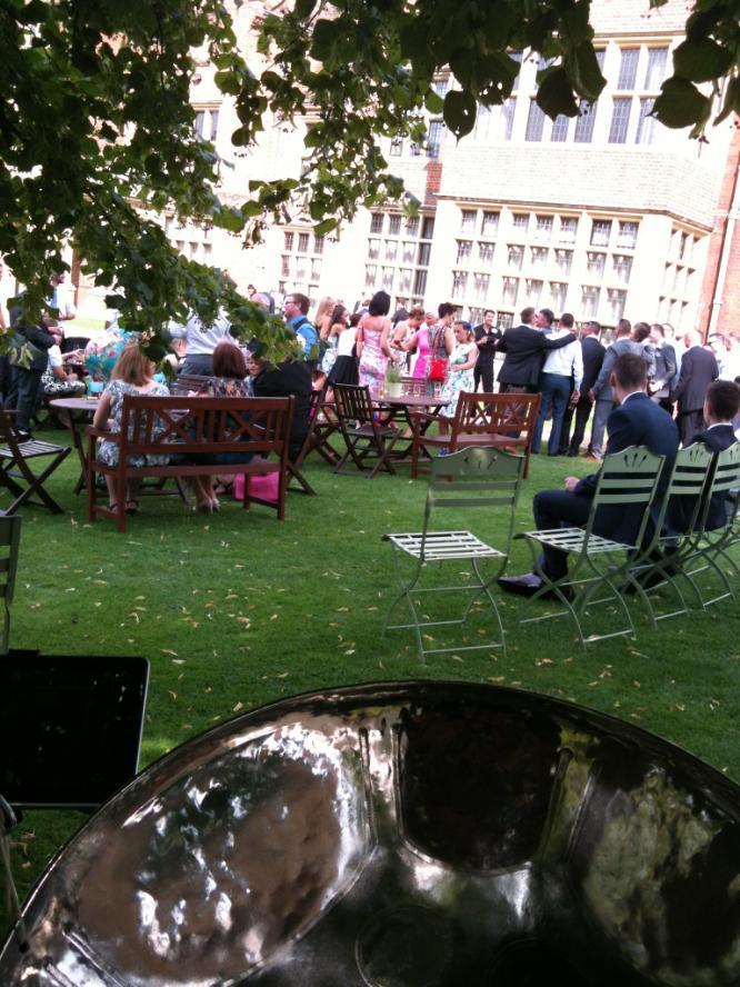Longstowe Hall | wedding venue Steelasophical Steel Band Drinks Reception 001