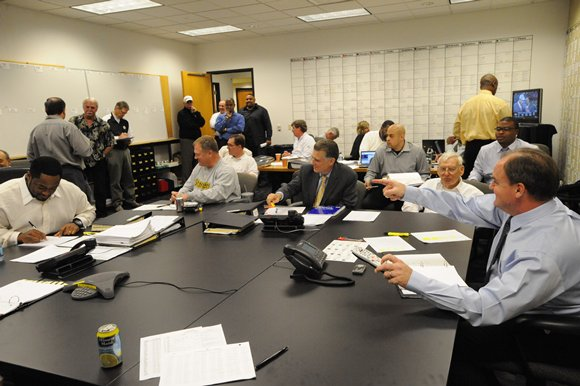 Steelers Draft War Room