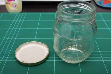 Place wire stand in the bottom of the jar