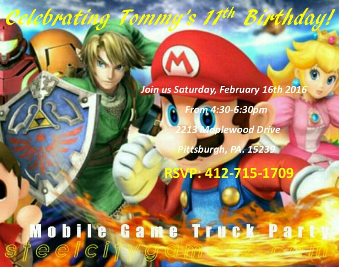 Mortal Kombat Birthday Party Invitations