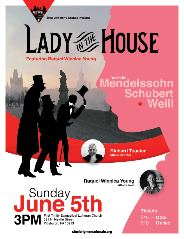 SCMC Flyer for Spring 2016 Concert - Lady in the house