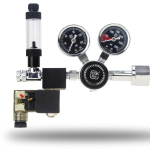 CO2Art PRO-SE Series – Aquarium CO2 Dual Stage Regulator with Integrated Solenoid
