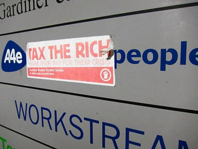 A4E Tax The Rich. Sheffield S1
