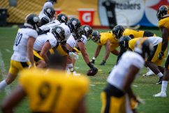 The Pittsburgh Steelers train at Heinz Field during the Steelers 2020 Training Camp, Thursday, Aug. 18, 2022 in Pittsburgh, PA. (Caitlyn Epes / Pittsburgh Steelers)