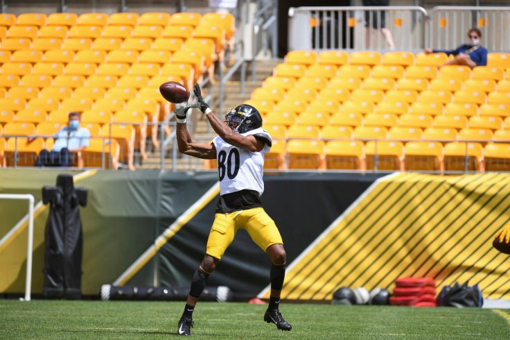 Pittsburgh Steelers wide receiver Saeed Blacknall (80) trains at Heinz Field during the Steelers 2020 Training Camp, Tuesday, Aug. 18, 2020 in Pittsburgh, PA. (Karl Roser / Pittsburgh Steelers)