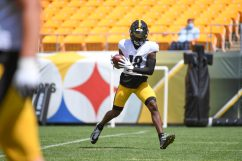 Pittsburgh Steelers wide receiver Diontae Johnson (18) trains at Heinz Field during the Steelers 2020 Training Camp, Tuesday, Aug. 18, 2020 in Pittsburgh, PA. (Karl Roser / Pittsburgh Steelers)