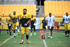 The Pittsburgh Steelers train at Heinz Field during the Steelers 2020 Training Camp, Tuesday, Aug. 18, 2020 in Pittsburgh, PA. (Karl Roser / Pittsburgh Steelers)