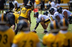 The Pittsburgh Steelers train at Heinz Field during the Steelers 2020 Training Camp, Friday, Aug. 19, 2022 in Pittsburgh, PA. (Caitlyn Epes / Pittsburgh Steelers)