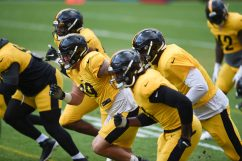 The Pittsburgh Steelers train at Heinz Field during the Steelers 2020 Training Camp, Monday, Aug. 24, 2020 in Pittsburgh, PA. (Caitlyn Epes / Pittsburgh Steelers)