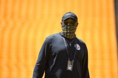 Pittsburgh Steelers Head Coach Mike Tomlin at Heinz Field during the Steelers 2020 Training Camp, Wednesday, Aug. 19, 2020 in Pittsburgh, PA. (Karl Roser / Pittsburgh Steelers)