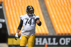 Pittsburgh Steelers offensive tackle Christian DiLauro (74) trains at Heinz Field during the Steelers 2020 Training Camp, Wednesday, Aug. 19, 2020 in Pittsburgh, PA. (Karl Roser / Pittsburgh Steelers)