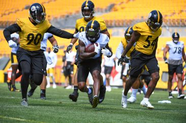 The Pittsburgh Steelers train at Heinz Field during the Steelers 2020 Training Camp, Wednesday, Aug. 19, 2020 in Pittsburgh, PA. (Karl Roser / Pittsburgh Steelers)