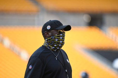 Pittsburgh Steelers Head Coach Mike Tomlin at Heinz Field during the Steelers 2020 Training Camp, Saturday, Aug. 22, 2020 in Pittsburgh, PA. (Karl Roser / Pittsburgh Steelers)