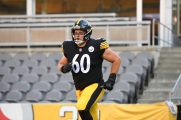 Pittsburgh Steelers center J.C. Hassenauer (60) trains at Heinz Field during the Steelers 2020 Training Camp, Saturday, Aug. 22, 2020 in Pittsburgh, PA. (Karl Roser / Pittsburgh Steelers)