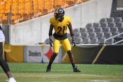 Pittsburgh Steelers safety John Battle (21) trains at Heinz Field during the Steelers 2020 Training Camp, Monday, Aug. 24, 2020 in Pittsburgh, PA. (Karl Roser / Pittsburgh Steelers)