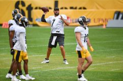 Pittsburgh Steelers quarterback Ben Roethlisberger (7) trains at Heinz Field during the Steelers 2020 Training Camp, Wednesday, Sept. 2, 2020 in Pittsburgh, PA. (Caitlyn Epes / Pittsburgh Steelers)