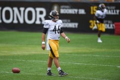Pittsburgh Steelers long snapper Liam McCullough (46) trains at Heinz Field during the Steelers 2020 Training Camp, Wednesday, Sept. 2, 2020 in Pittsburgh, PA. (Caitlyn Epes / Pittsburgh Steelers)
