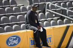 Pittsburgh Steelers Head Coach Mike Tomlin trains at Heinz Field during the Steelers 2020 Training Camp, Friday, Sept. 4, 2020 in Pittsburgh, PA. (Caitlyn Epes / Pittsburgh Steelers)