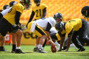 Pittsburgh Steelers long snapper Liam McCullough (46) trains at Heinz Field during the Steelers 2020 Training Camp, Friday, Sept. 4, 2020 in Pittsburgh, PA. (Karl Roser / Pittsburgh Steelers)