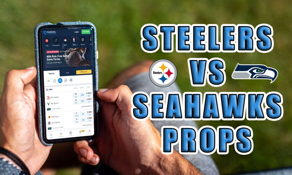 seahawks steelers player props