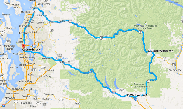 Day ride to Leavenworth map