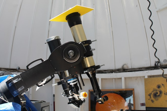 Telescopes used for solar viewing