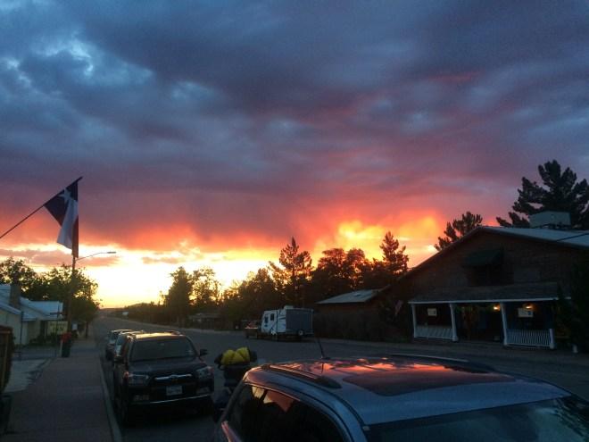 Sunrise in Fort Davis, TX