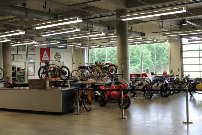 Motorcycle restoration area