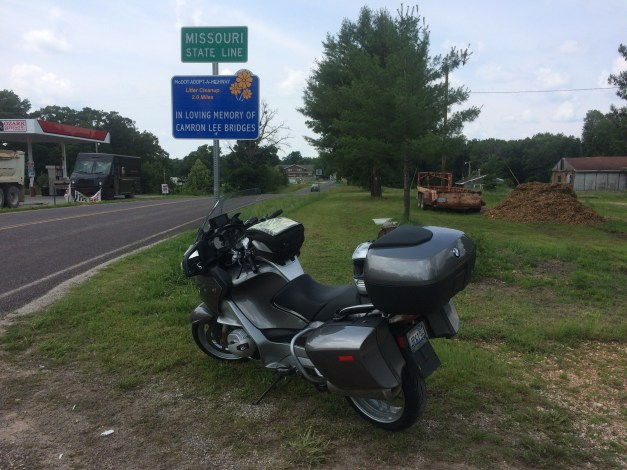 Crossing into Missouri, the final southern state in my tour.