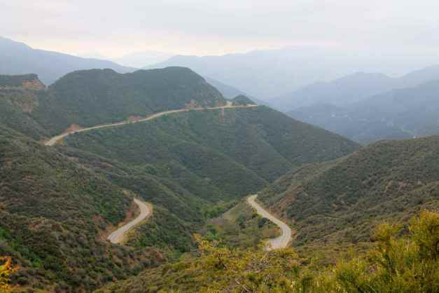Hwy 33 switchbacks south of Pine Mountain