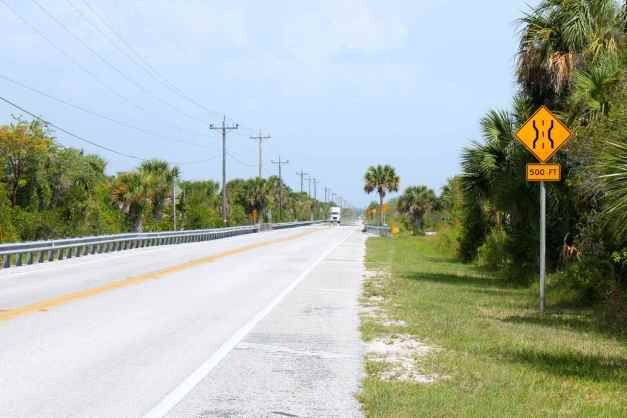 Hwy 41 entering the Everglades from the East.
