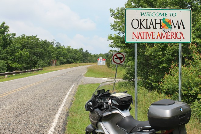 Entering Oklahoma along the Talimena Scenic Byway