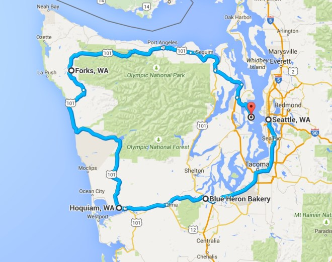 Route around Olympics