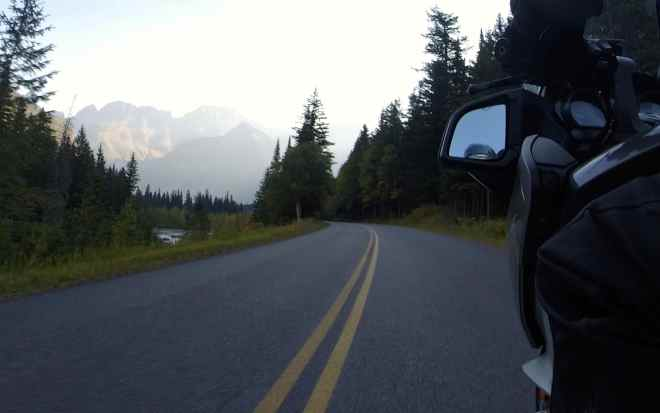 Riding along the Going-to-the-Sun Road