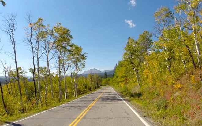 Hwy 49 approaching East Glacier Park Village