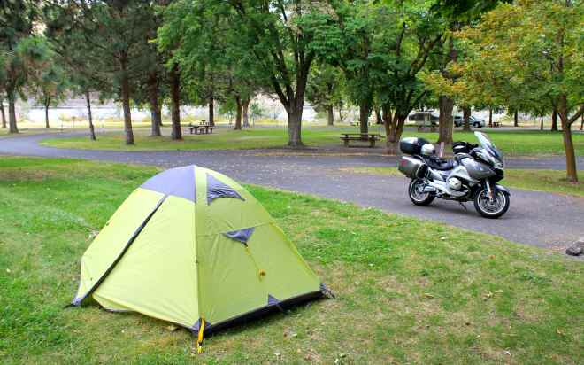 Campsite at Hells Gate State Park