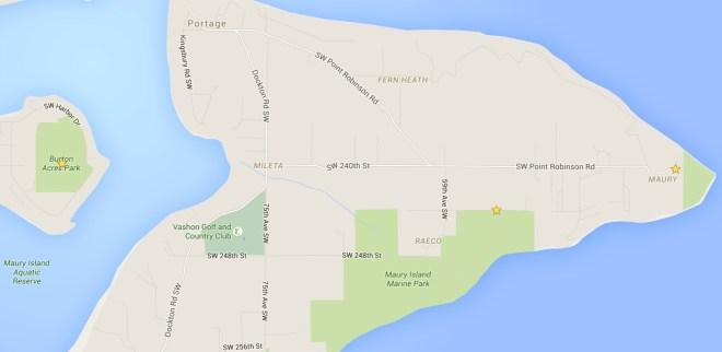 Maury Island Marine Park, Point Robinson Park, and Burton Acres Park