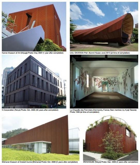 bangunan dari corten steel