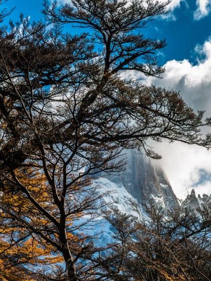 Mount Fitz Roy, first peek.