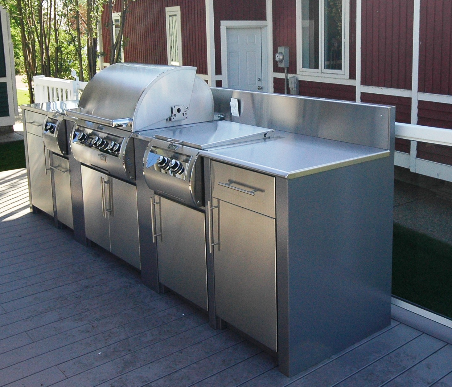 Best Kitchen Gallery: Stainless Steel Outdoor Kitchens Steelkitchen of Outdoor Kitchen Cabinets Stainless Steel on cal-ite.com
