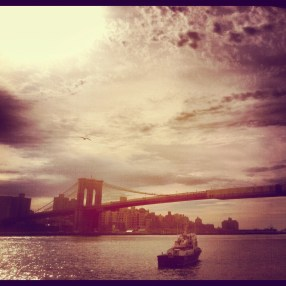 Brooklyn Bridge for a shoot