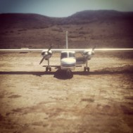 Our plane for the Channel Islands