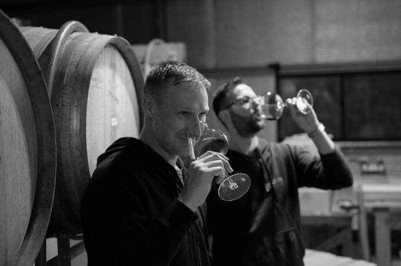 Matthew abd Brad. Owners and winemakers of Steels Gate Wines