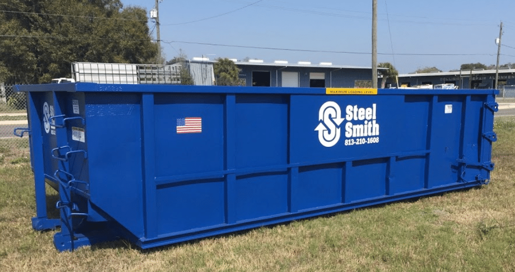 An image of a SteelSmith Dumpster rental in Tampa, FL