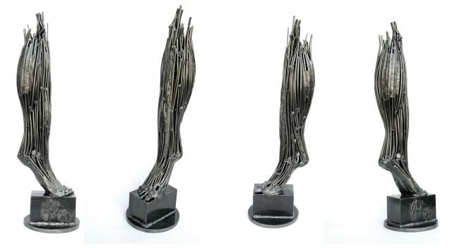 steel sculpture leg