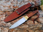brown leather sheath knife