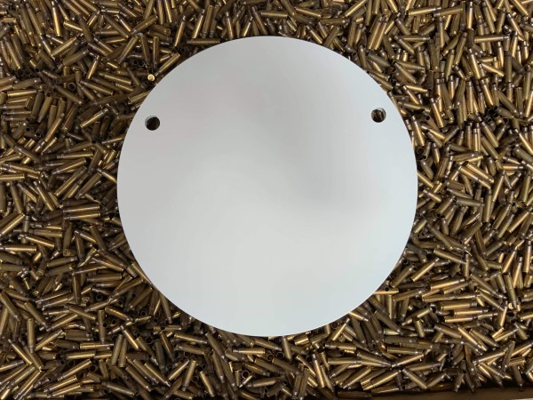 400mm AR500 gong for long range target shooting. Steel Targets NZ