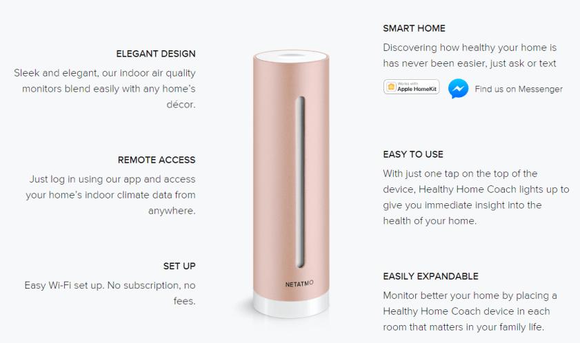 Αποτέλεσμα εικόνας για Netatmo Smart Indoor Air Quality Monitor, temperature, humidity, noise and CO2 sensors