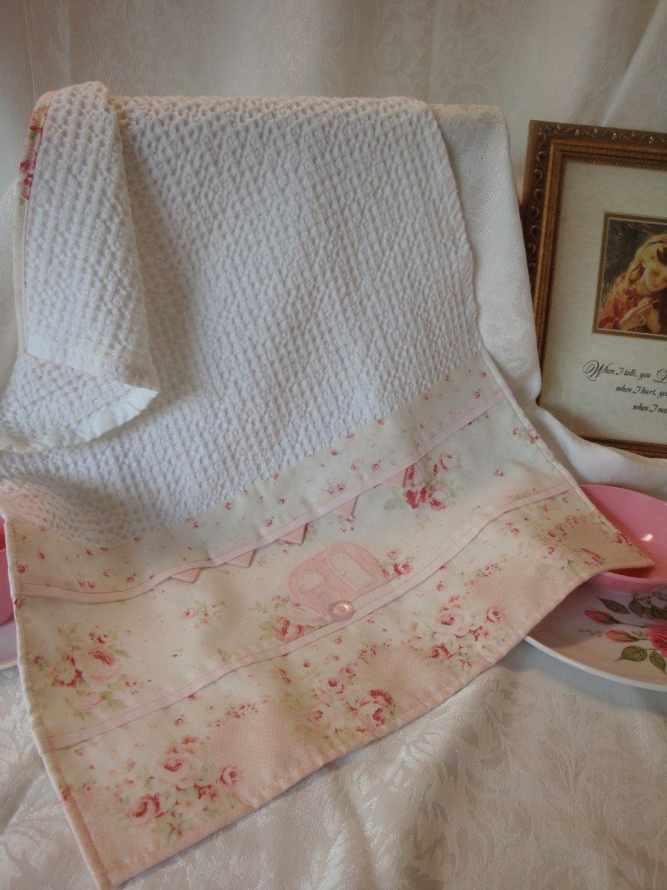 Tea Towel Pink Shabby