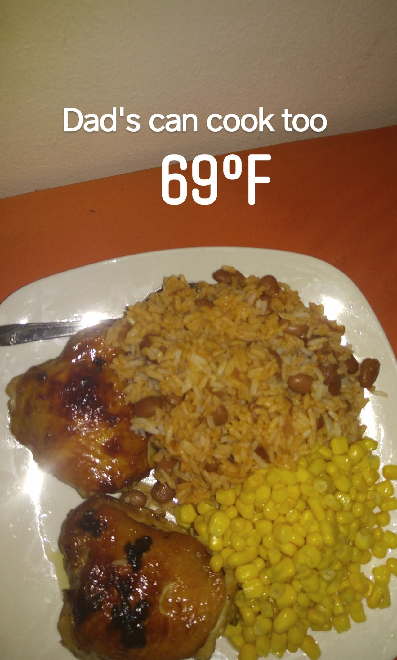 Baked Chicken with Simple Rice and Beans My Way